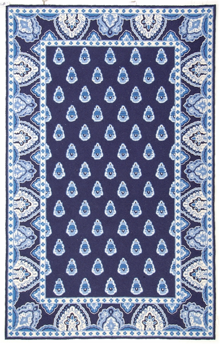 Home u003e Color u003e Blue u003e Marcella Vera Bradley Signature VBY027A Nantucket  Navy Closeout Area Rug