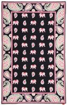 Marcella Vera Bradley Signature VBY038A Pink Elephants Closeout Area Rug