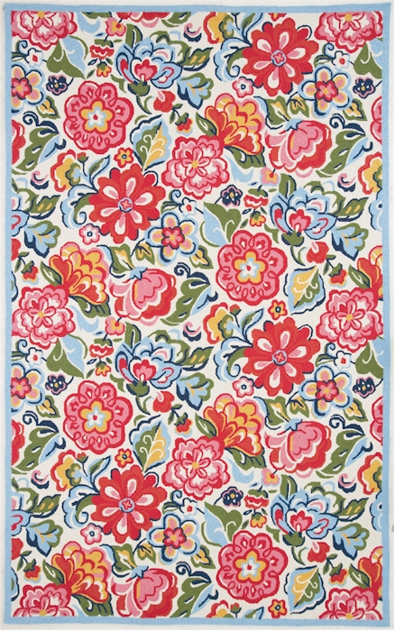 Home u003e Color u003e Ivory u003e Marcella Vera Bradley Signature VBY060A Hope Garden  Closeout Area Rug