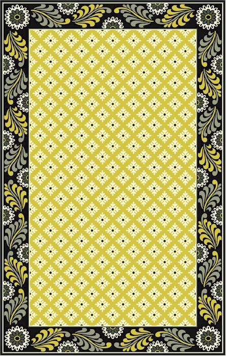 Beautiful Home U003e Material U003e Wool U003e Marcella Vera Bradley Signature VBY088A Baroque  Closeout Area Rug