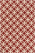 Loloi Venice Beach VB-05 Red / Ivory Closeout Area Rug