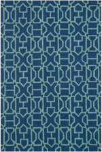 Loloi Venice Beach VB-21 Navy / Aqua Closeout Area Rug