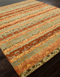 Jaipur Vestiges VT10 Striae Apricot Orange & Raffia Closeout Area Rug