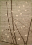 Calvin Klein Home Woven Textures WT04 MSH Floating Buds Closeout Area Rug