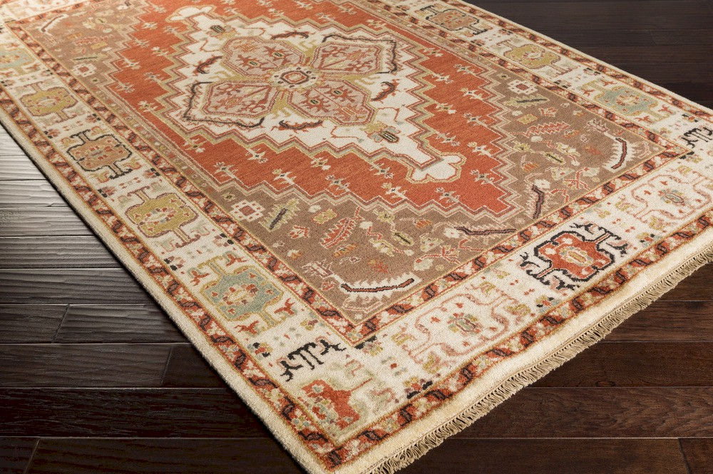Surya Zeus Zeu 7800 Rust Cream Area Rug
