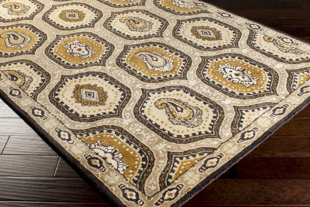 Surya Ancient Treasures A 173 Light Grey Gold Butter