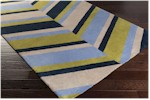 Surya Abigail ABI-9037 Ivory/Navy/Lime Closeout Area Rug - Fall 2015
