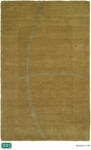 HRI Abstract LJ-08 Light Green Closeout Area Rug