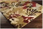 Surya Alfredo AFR-3333 Gold/Burgundy/Chocolate Closeout Area Rug - Fall 2015