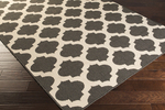 Surya Alfresco ALF-9584 Black/Cream Area Rug