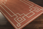Surya Alfresco ALF-9631 Rust/Camel/Cream Area Rug
