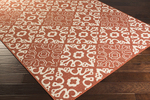 Surya Alfresco ALF-9636 Rust/Cream Area Rug
