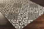 Surya Alfresco ALF-9637 Black/Cream Area Rug