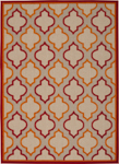 Nourison Aloha ALH06 RED Red Area Rug