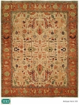 HRI Antique Heriz 101 Ivory/Rust Area Rug