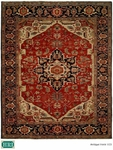 HRI Antique Heriz 103 Red/Blue Area Rug