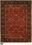HRI Antique Heriz 104 Red/Blue Area Rug