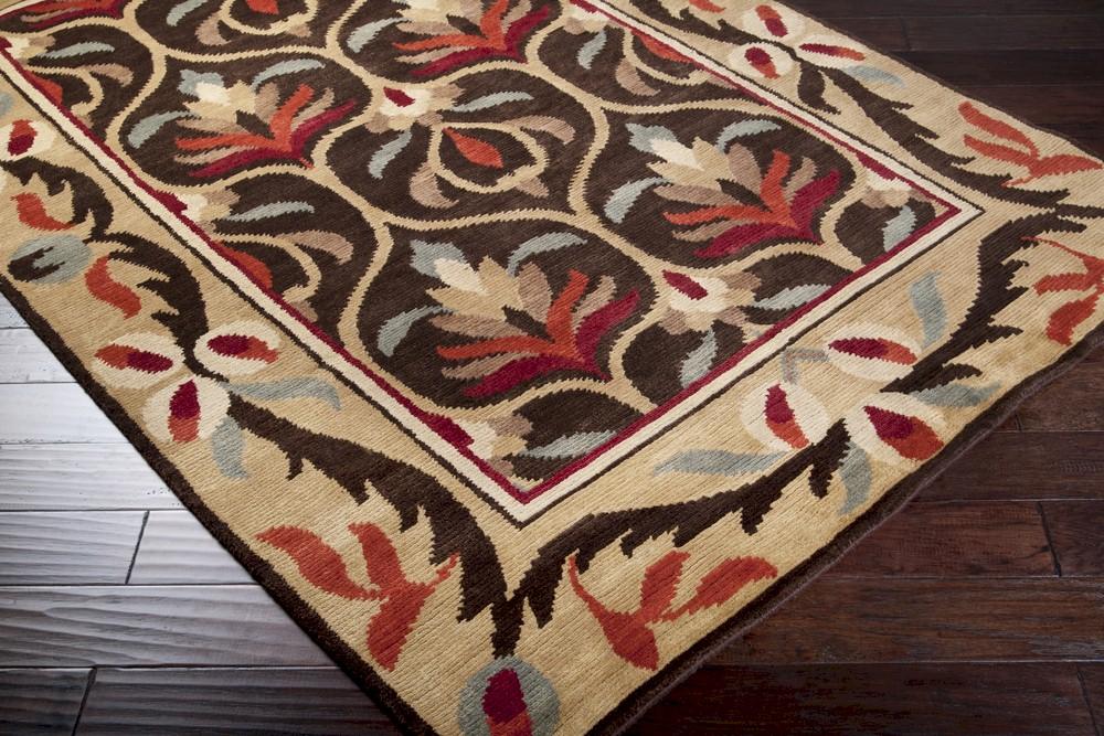 surya arts and crafts atc 1000 chocolate tan closeout area. Black Bedroom Furniture Sets. Home Design Ideas