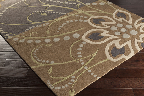 Surya Athena Ath 5128 Olive Taupe Light Grey Area Rug