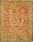 HRI Oushak Crown B-260 Rust/Gold Area Rug
