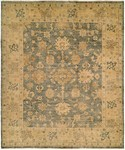 HRI Oushak Crown B-26 Blue/Gold Area Rug