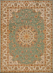 Kathy Ireland Home Ancient Times BAB02 TL Lydia Teal Area Rug