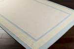 Surya Somerset Bay Boardwalk BDW-4023 Antique White/Soft Blue/Soft Yellow Closeout Area Rug - Fall 2014