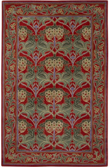 Surya Bungalow Bng 5009 Red Teal Closeout Area Rug Fall 2012