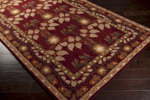 Surya Bungalow BNG-5020 Maroon/Tan/Copper Penny Closeout Area Rug - Fall 2014