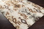 Surya Brentwood BNT-7674 Barley/Silt Green/Antique White Area Rug