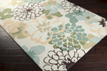 Surya Brentwood BNT-7692 Winter White/Pale Green/Pale Gold Area Rug