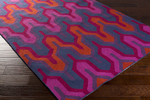 Surya Brentwood BNT-7703 Eggplant/Magenta/Navy Closeout Area Rug - Fall 2015