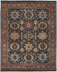 Surya Bursa BUR-9119 Black/Rust/Burgundy/Grey/Charcoal Area Rug