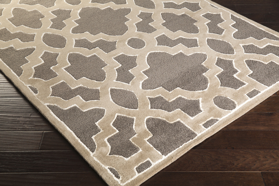 Surya candice olson modern classics can 2037 charcoal for Candice olson area rugs