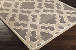 Surya Candice Olson Modern Classics CAN-2037 Charcoal/Light Grey/Ivory Area Rug