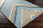 Surya Candice Olson Modern Classics CAN-2057 Taupe/Moss/Teal Area Rug
