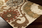 Surya Columbia CBA-106 Parchment/Dark Olive Green/Red Clay Area Rug