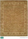 HRI Classical Elegance 402 Light Green/Ivory Closeout Area Rug