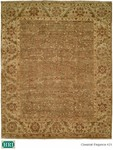 HRI Classical Elegance 421 Light Green/Ivory Closeout Area Rug