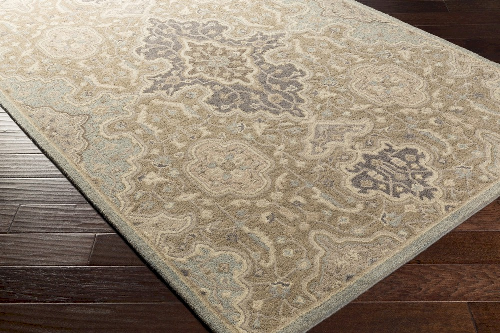 Surya Castello Cll 1025 Taupe Olive Beige Moss Grey Area Rug