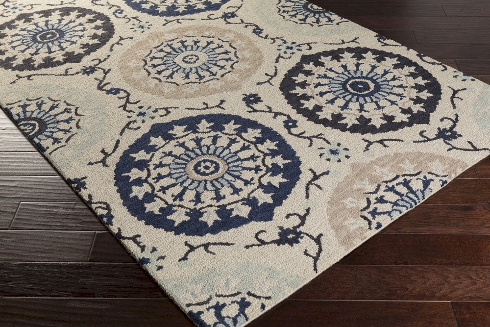 Surya Centennial Cnt 1103 Light Grey Navy Taupe Area Rug