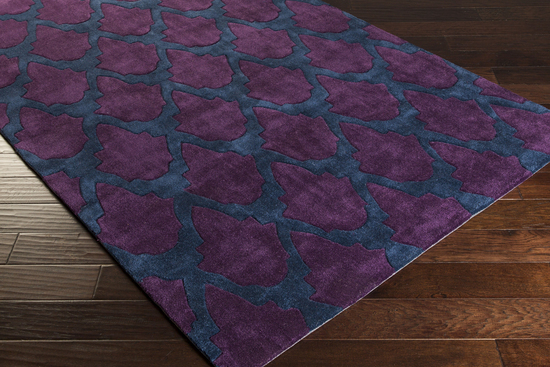 Surya Cosmopolitan Cos 9160 Eggplant Teal Closeout Area Rug Fall