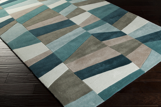 Surya Cosmopolitan Cos 9187 Teal Sea Foam Moss Area Rug