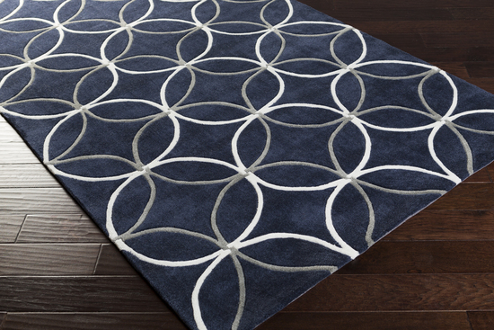 Navy And Grey Rug Home Decor