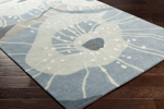 Surya Cosmopolitan COS-9259 Slate/Light Grey/Teal Area Rug