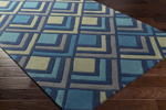 Surya Cosmopolitan COS-9273 Navy/Teal/Olive/Charcoal Area Rug
