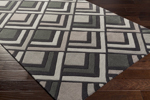 Surya Cosmopolitan COS-9275 Charcoal/Light Grey/Taupe Area Rug