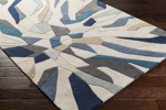 Surya Cosmopolitan COS-9278 Light Grey/Teal/Navy Area Rug