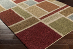 Surya Concepts CPT-1733 Burgundy/Lime/Beige/Tan Closeout Area Rug