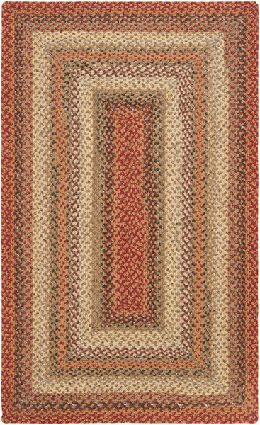 Surya Country Living Cottage Braids Ctg 4506 Burnt Sienna